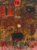 Samson Mnisi; Abstract Composition in Red