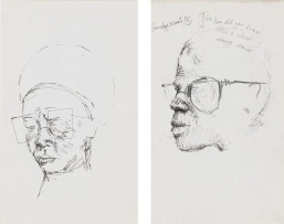 Nelson Makamo; Woman with Glasses; Sunday School, two
