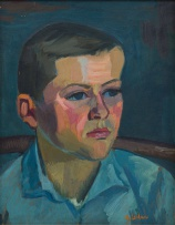 Maggie Laubser; Portrait of a Youth