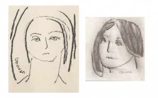 Charles Gassner; Portrait of a Girl, two