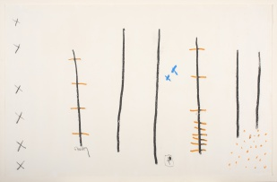 Charles Gassner; Abstract with Vertical Lines