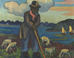 Maggie Laubser; Shepherd and Sheep