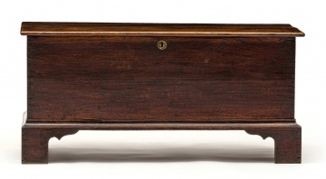 An oak chest, possibly French, 18th century