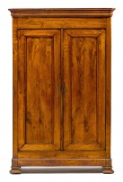 A French oak and cherrywood armoire, 19th century