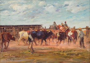 Adriaan Boshoff; Gathering Cattle for Transport