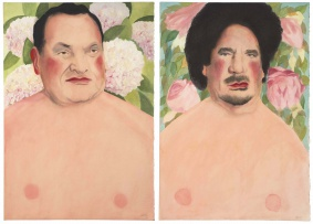 Stephen Allwright; Hosni with Mophead Hydrangeas; Muamar with Floral Patterns, two