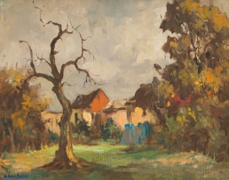 Alexander Rose-Innes; Cottages with Trees