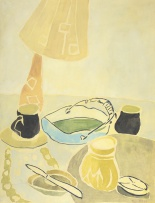Thijs Nel; Still Life with Lamp and Vessels