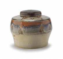 A stoneware jar and cover, Hyme Rabinowitz (1920-2009)