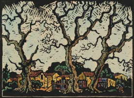 Gregoire Boonzaier; Cape Village with Trees