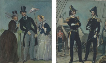 Dorothy Kay; Les Modes Parisienne, 1844; The Officers, 1848, two