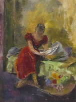 Cecil Higgs; Woman in a Red Dress