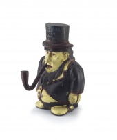 A Transvaal cast-iron and painted money box, 20th century