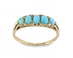 Victorian turquoise and 18ct gold ring