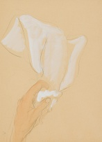 Maggie Laubser; Hand Holding a Cloth