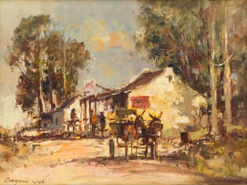 Christiaan Nice; Donkey Cart and Trading Store