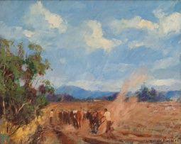 Adriaan Boshoff; Ploughing with Team of Oxen