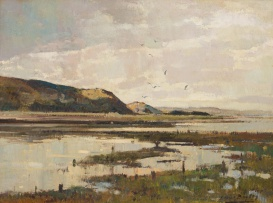Errol Boyley; Landscape with River and Hills