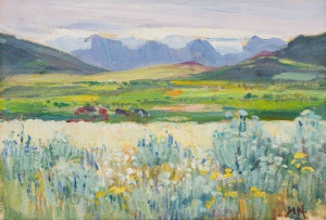 Hugo Naudé; Landscape with Grazing Cattle