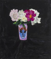 Beezy Bailey; Still Life with Peonies and my Painted Vase
