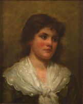 Charles Schoff Parker; Portrait of a Young Woman