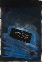 Bruce McLean; Abstract Composition in Blue