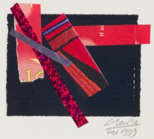 Peter Clarke; Abstract Composition in Red