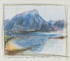 Erik Laubscher; Sketch for Painting Tranquility - Teewatersdam, June 1999
