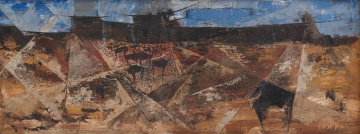 Gordon Vorster; Abstract Composition with Buffalo and Wildebeest