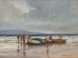 Christiaan Nice; Boats on the Shore