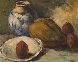 Alexander Rose-Innes; Still Life with Vessels and Fruit