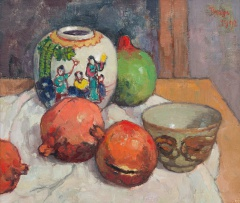 Conrad Theys; Still Life with Chinese Ginger Jar
