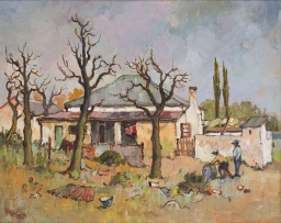 Conrad Theys; House with Grey Roof