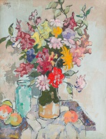 Gregoire Boonzaier; Still Life with Vase of Mixed Flowers