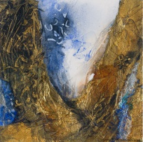 Lynette ten Krooden; Abstract Composition with Gold