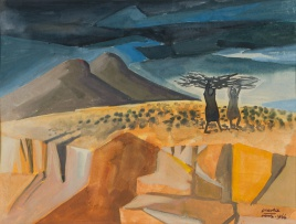 Peter Clarke; Landscape with Donga