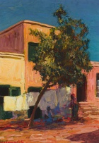 Edward Roworth; Vendor with House and Tree