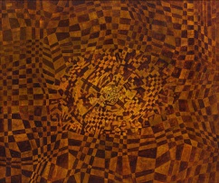 Eugene Labuschagne; Abstract Composition in Orange and Brown