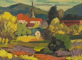 Walter Westbrook; View over a Village